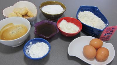 Ingrédients pour la recette : Biscuit italien avec amaretti et café