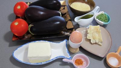 Ingrédients pour la recette : Aubergines à la mozzarella façon italienne