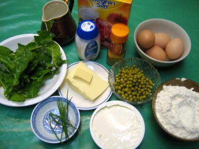 Ingrédients pour la recette : Choux au mascarpone et aux petits pois