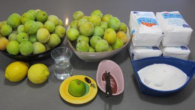 Ingrédients pour la recette : Confiture de prunes blanches