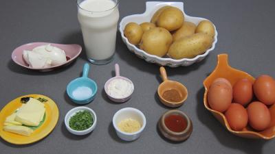 Ingrédients pour la recette : Pommes de terre à la sauce au mascarpone