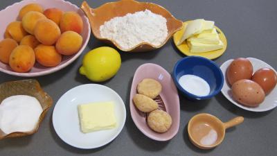 Ingrédients pour la recette : Croustade aux abricots