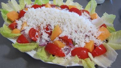 Encornets et gambas en salade - 8.2