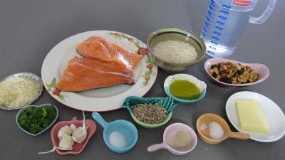 Ingrédients pour la recette : Papillotes de pavés de saumon