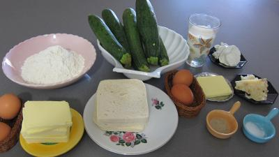 Ingrédients pour la recette : Tourte aux courgettes