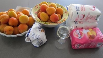 Ingrédients pour la recette : Confiture d'abricots