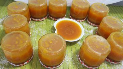 Recette Confiture d'abricots au parfum de noix de coco