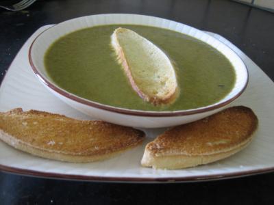 Cuisine diététique : Assiette de crème d'épinards