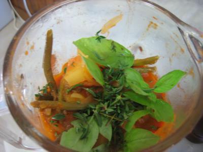Crème de tomates et haricots verts - 14.1