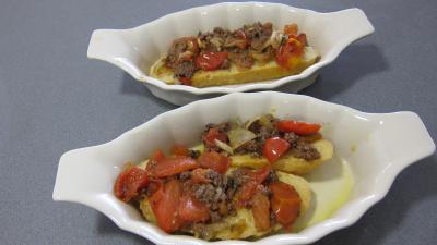 Crostinis d'aubergines et son concassé de boeuf façon Italienne - 10.4