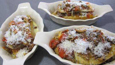 Crostinis d'aubergines et son concassé de boeuf façon Italienne - 11.4