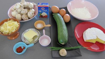 Ingrédients pour la recette : Timbales au camembert