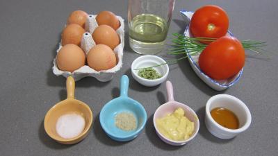 Ingrédients pour la recette : Oeufs mimosa