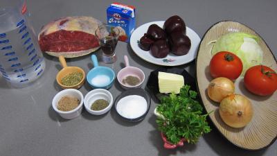Ingrédients pour la recette : Bortsch Russe