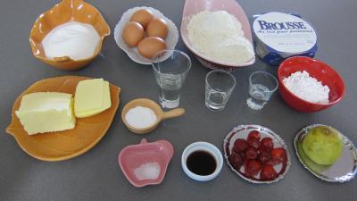 Ingrédients pour la recette : Cupcakes à la brousse